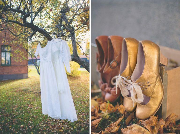 Bröllopsskor Vintageklänning